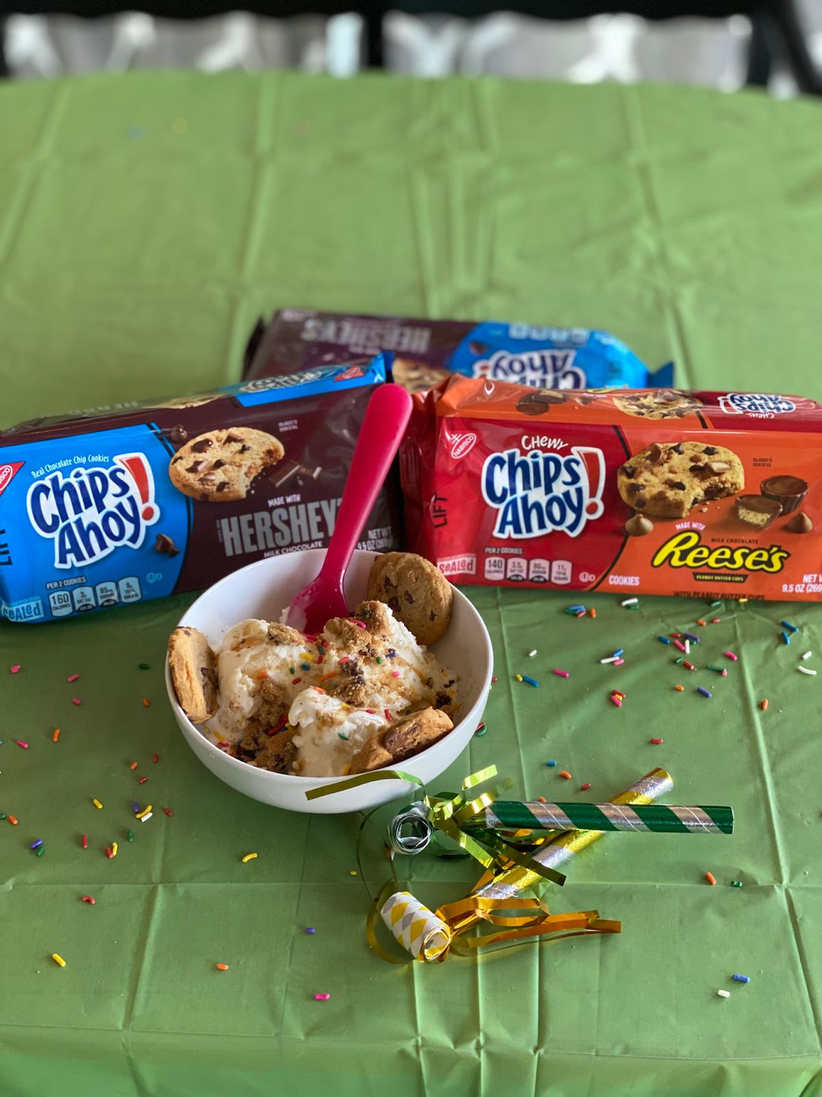 Chips Ahoy Cookie Ice Cream Sundae