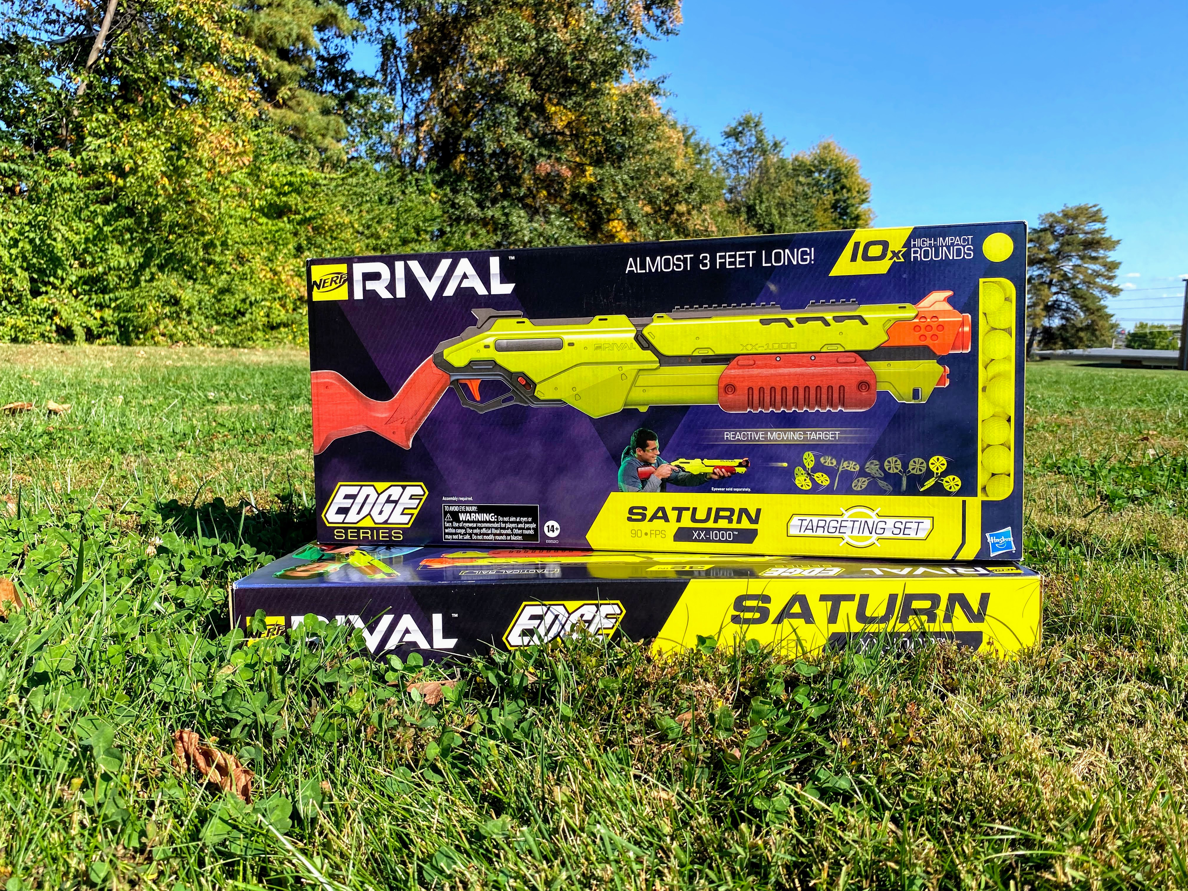 #ad Get your teens off the couch & having fun too with the Nerf Rival Edge Series Saturn XX-1000 Targeting Sets! Experience the Intensity by challenging opponents to competitive games of skill and accuracy with an air-scorching velocity of up to 90 feet per second from the longest Nerf Rival blaster ever at 32 inches long!  @nerf #Nerf #OnlyatWalmart #NerfRivalEdgeSeries